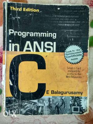 Third Edition Programming In Ansi Book