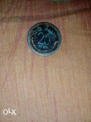 This is a very rare coin of  of 25 paise.I