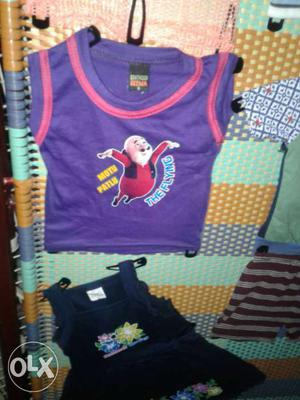 Cut t shirts for kids boys girls. each 45 rs.