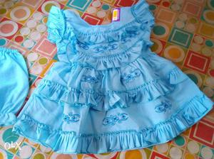 NEW pure cotton frock for 6 to 12 months baby