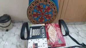 Chess board game scrable board game and darting board