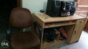 Computer table with computer chair