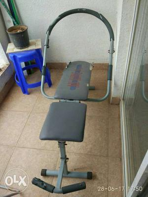 Gray Exercise Bench