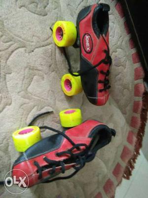 Red-and-black Jonex Roller Skates for  years