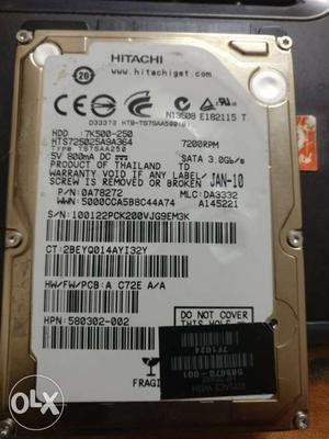 250 GB new laptop hard disk. Hitachi