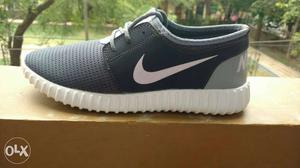Gray And Black Athletic Shoe