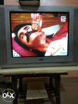 Grey LG Widescreen CRT TV