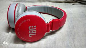 Red And White JBL Wireless Headphones