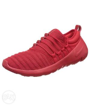 Red Nike Athletic Shoe