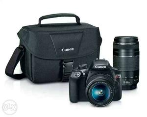 Rent for new cannon DSLR with 2 lances for 12