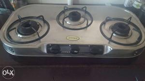 Stainless Steel 3-burner Cooktop