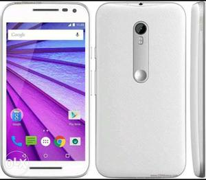 Moto G3 Good Condition 1 year Use only White