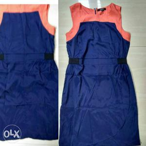 OrangeAnd Blue Scoop-neck Sleeveless Dress Brand madame Size