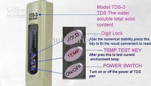 TDS meter Digital Handheld Pocket Thermometer Water purity