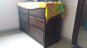 Beautiful dark wood chest of drawers for sale