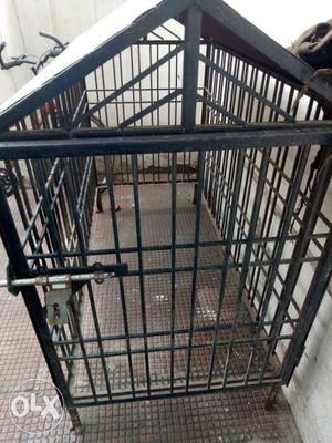 Black Metal Generator Cage