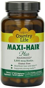 Maxi-Hair Plus Biotin - 120 Vegetarian Capsules