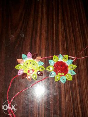 5 quilled Rakhis.Rs 20 each