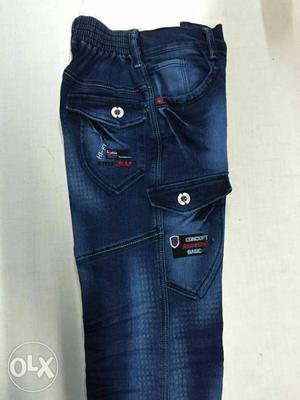 Blue-washed Jeans