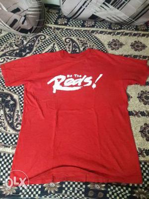 Medium size tshirt full red & red white t shirt