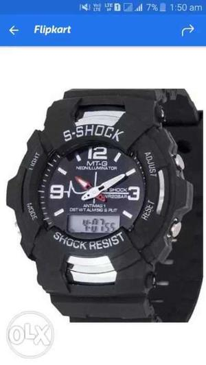 New branded watch with alarm stop watch dual time