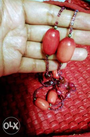Semi precious,crystals Ruby and moonga, natural