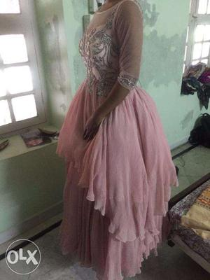 Pink ballroom/wedding gown - custom-made - never used