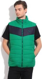 Puma Sleeveless Solid Mens Quilted Jacket-C1E