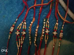 Red-and-orange Bracelets With Diamonds