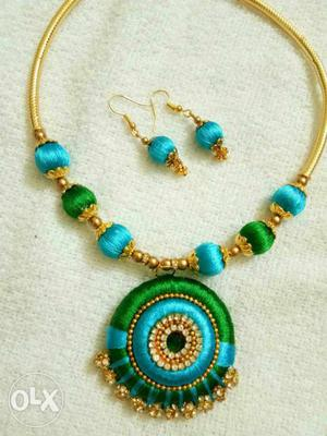 Two sets of necklace with earrings