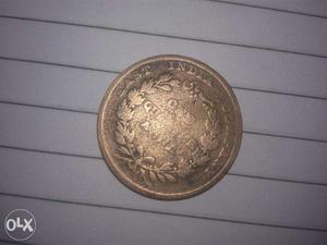 East India company coin  One quarter Ana