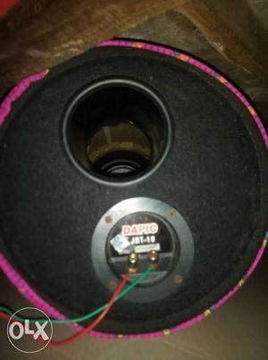 Subwoofer,amplifier and battery eliminator no