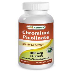 Best Naturals Chromium Picolinate Tablet, 120 ct