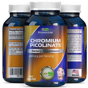 (New) Free Shipping 200 mcg Chromium Picolinate Metabolism