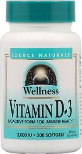 Source Naturals Wellness Vitamin D- IU - 200
