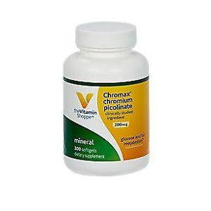 the Vitamin Shoppe Chromium Picolinate 200 Mcg 300 Softgels