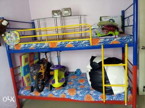 2 year old rarely used bunk bed cot with beds for