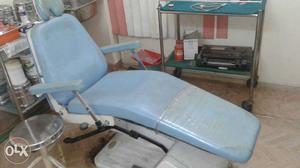 Blue Leather Dental Chair