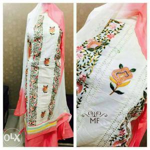 Kashmiri Work pure cotton Dress material at 950