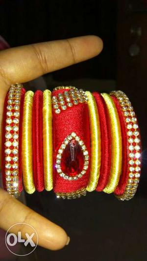 New hand made thread bangles(any size or any