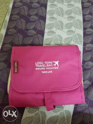 Pink Long Term Travel Bag