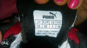 Puma shoes for boys in gud condition