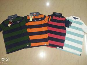 Red And Black Stripe Tommy Hilfiger Polo Shirt