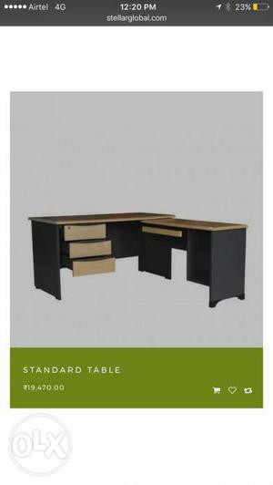 Stellar Furniture Boss Table. 1 year old. Rs.
