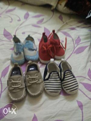 All 6 pairs of baby shoes