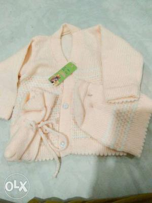 Baby sweater cream colour total set