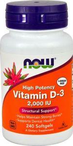 NOW Vitamin D- IU - 240 Softgels