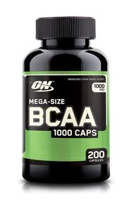 Optimum Nutrition BCAA  Caps --  mg - 200 Capsules