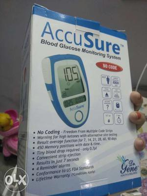 2 Pieces - Accusure Blood Glucose Monitoring System Box