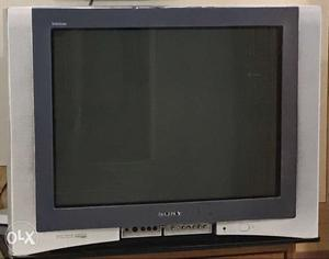 Black And Grey Sony Widescreen CRT TV